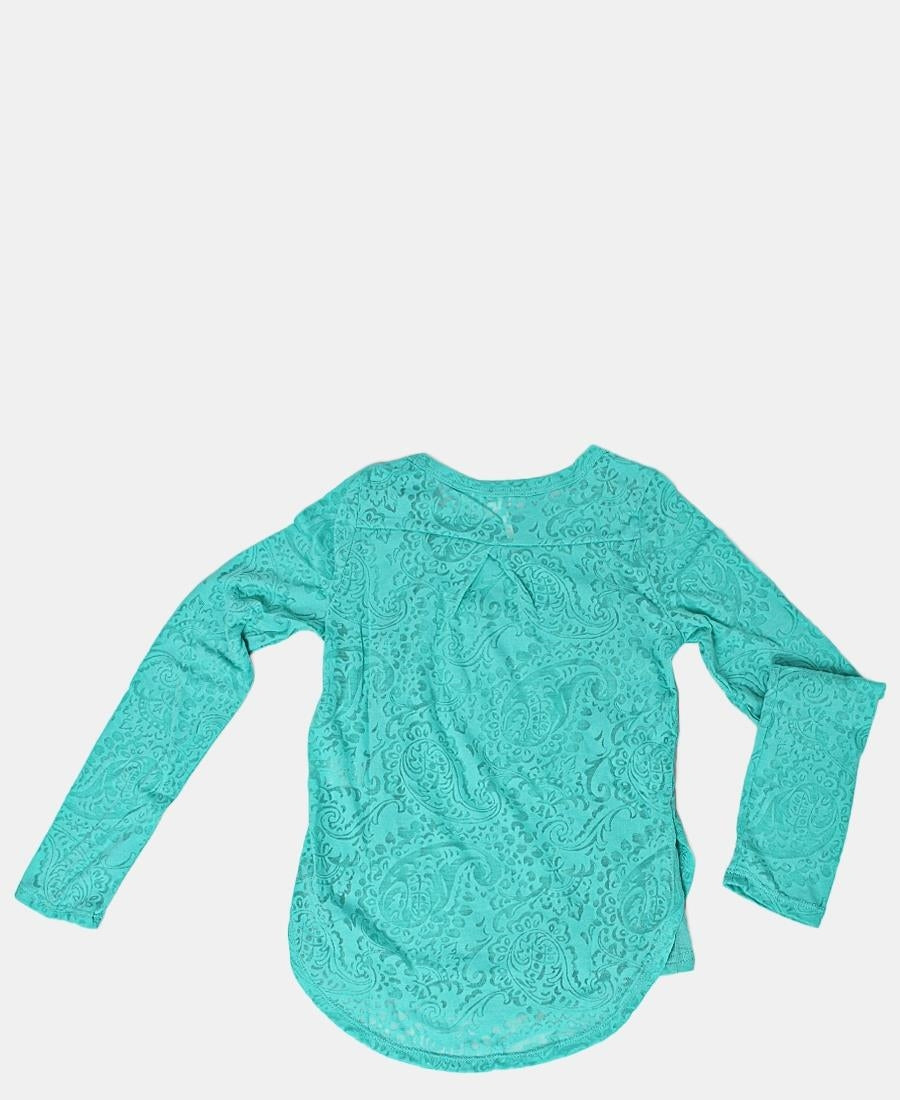 Girls Long Sleeve Top - Blue