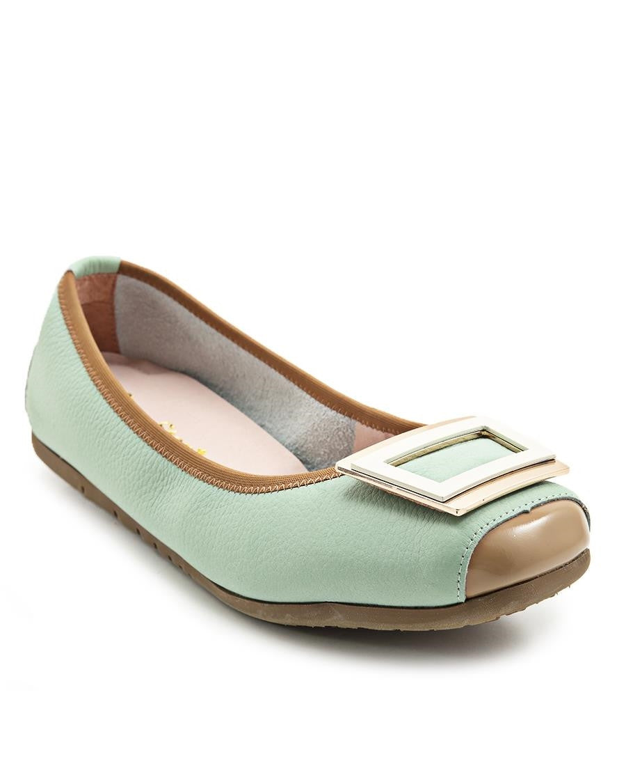 Leather Pumps - Mint