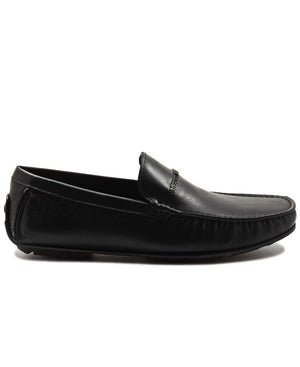 Genuine Leather Loafer - Black