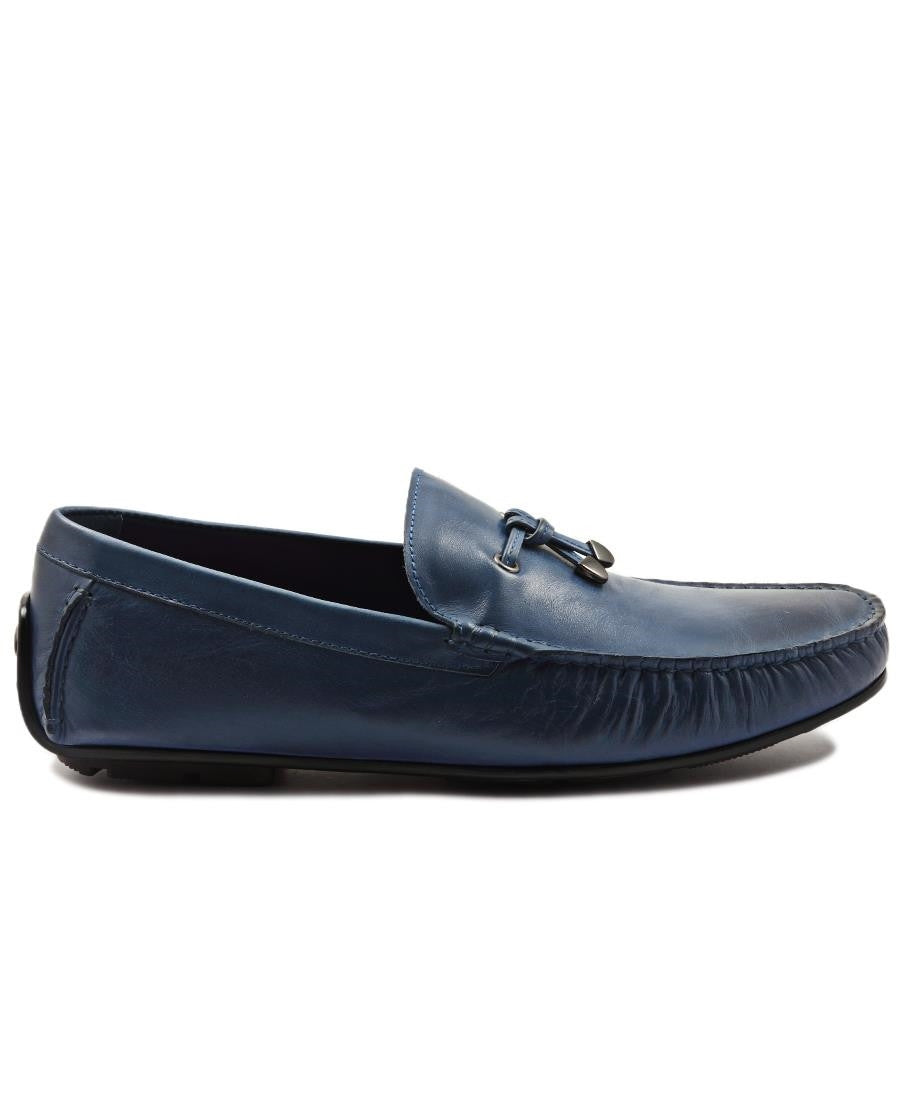 Genuine Leather Loafer - Blue