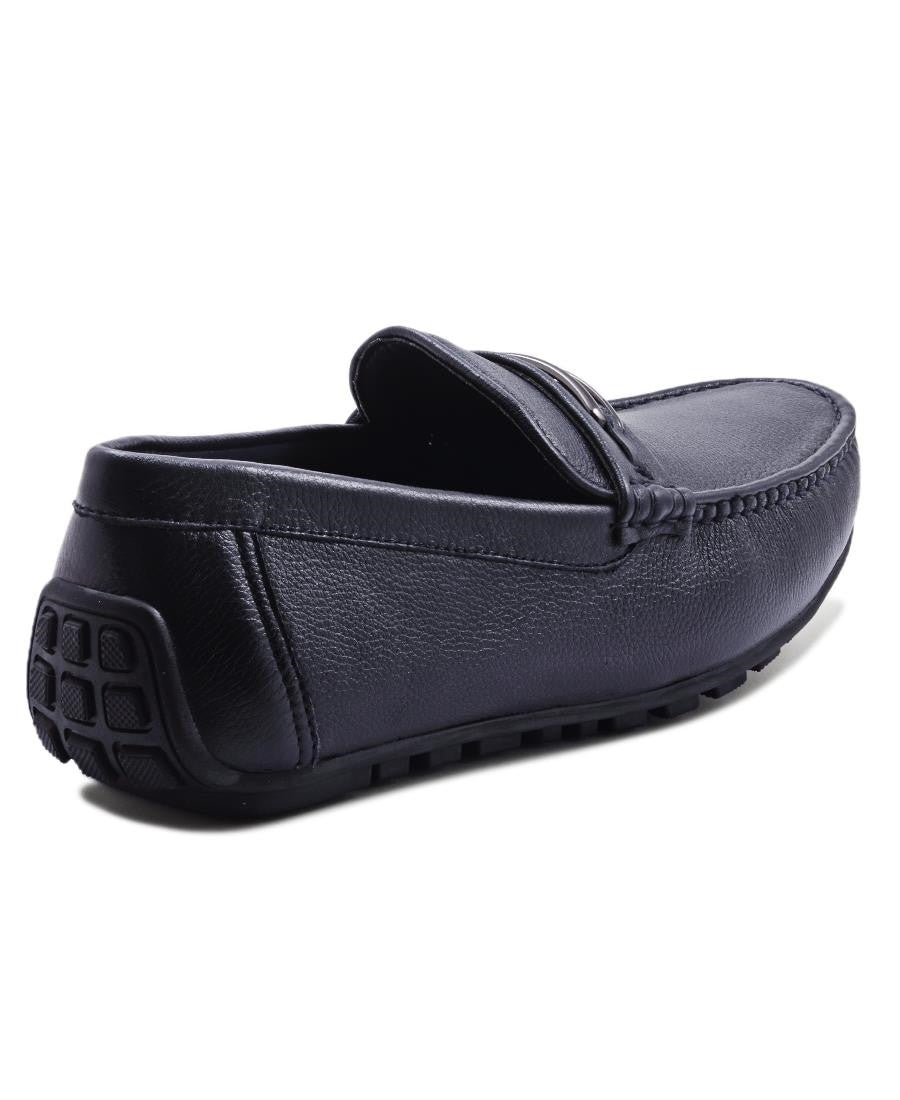 Genuine Leather Loafer - Navy