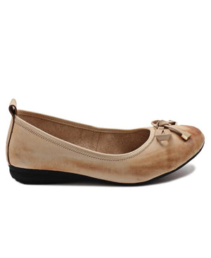Leather Pumps - Beige