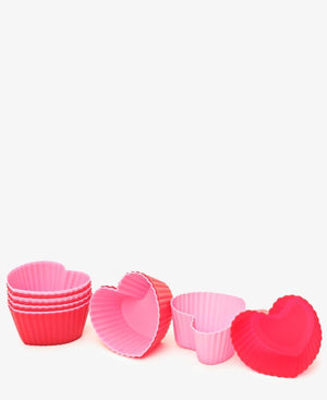 Heart Silicon Muffin Cup - Multi