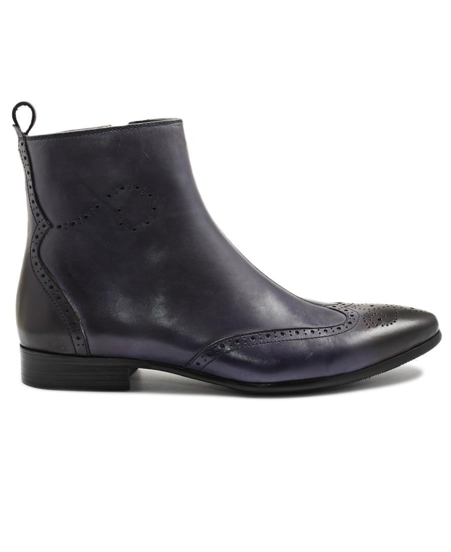 Genuine Leather Boot  - Blue