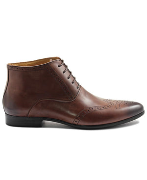 Genuine Leather Boot - Brown
