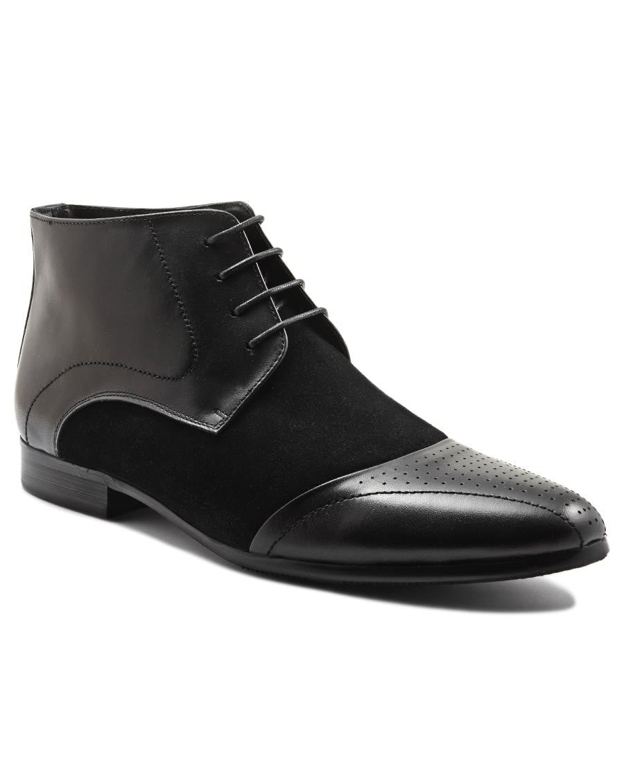 Genuine Leather Boot - Black