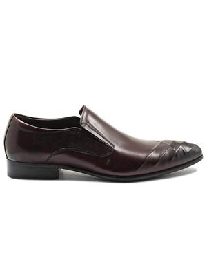 Genuine Leather Slip On - Brown
