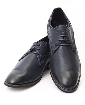 Lace Up Shoes - Navy