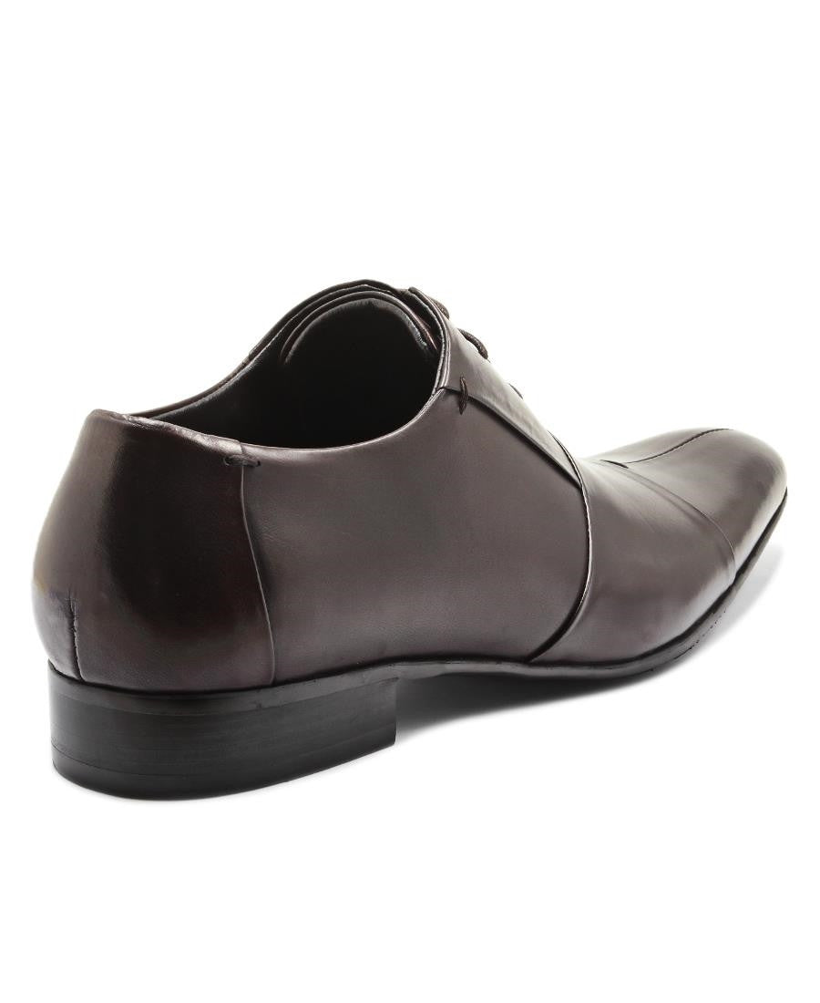 Genuine Leather Lace Up - Brown