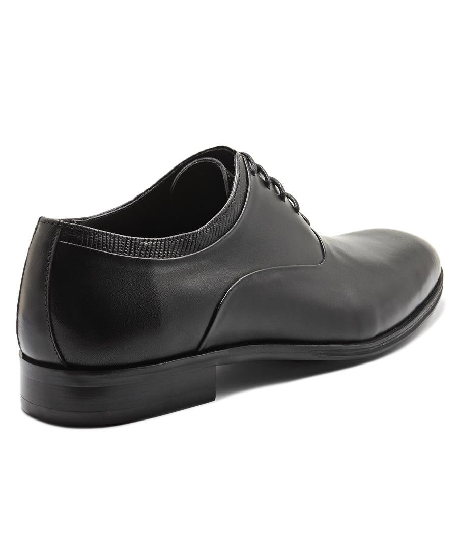 Genuine Leather Lace Up - Black