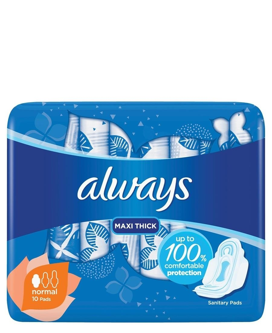 Always Maxi Plus Pads 10s - Blue