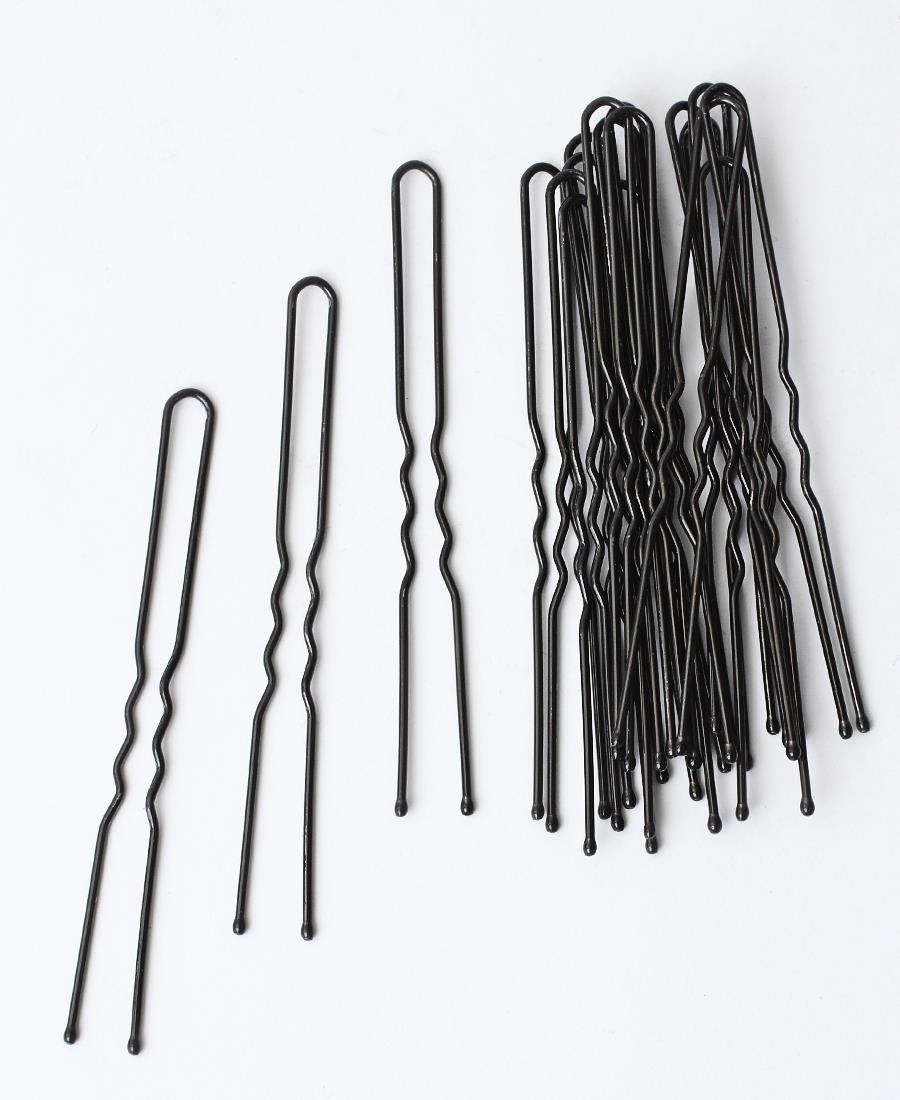 Wavy Hair Pins - Black