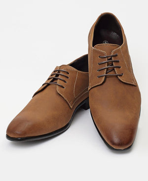 Lace Up Shoes - Tan