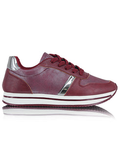 Ladies' Rock Low Metallic - Burgundy