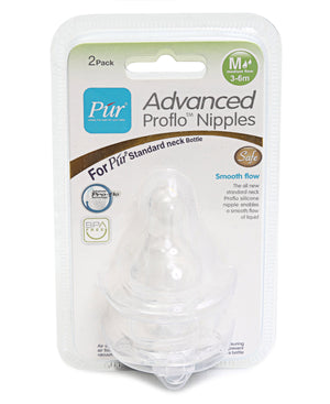 2 Pack Medium Flow Nipples - Clear