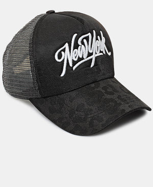 Embroidered Cap - Black
