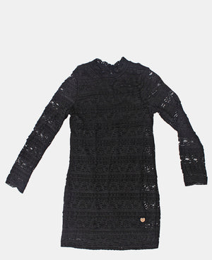 Girls Lace Dress - Black