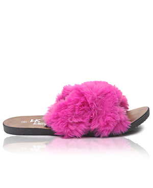 Fluff Sandals - Fuschia