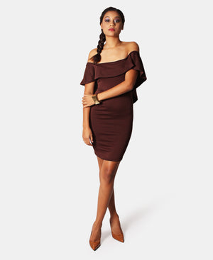 Bodycon Dress - Choc