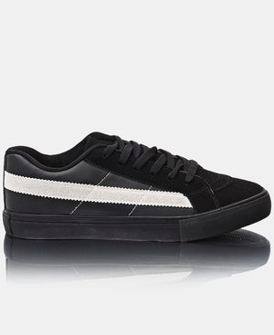 Men's Casual Sneakers - Black-White