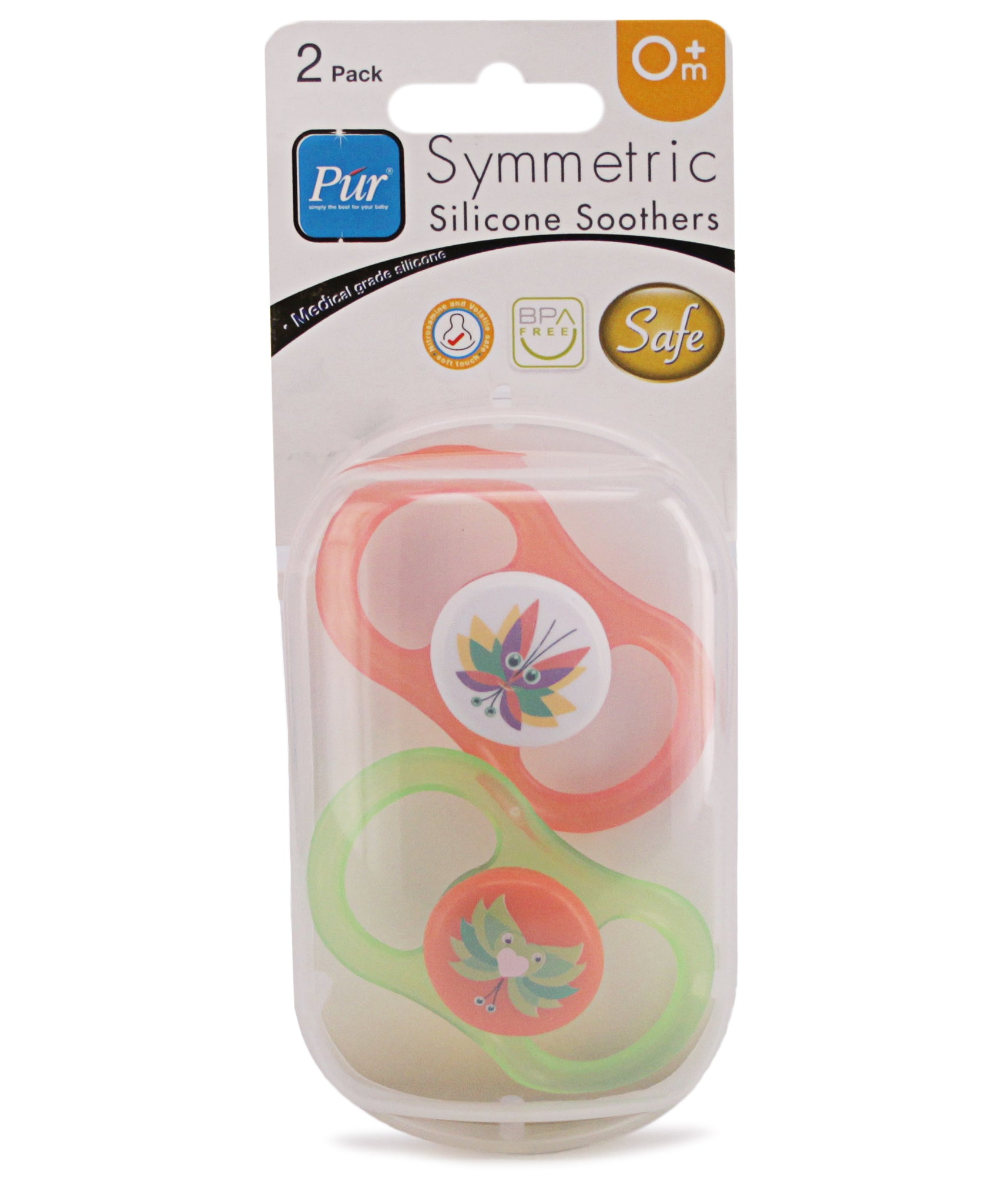 Newborns' 2 Pack Silicone Soothers - Green