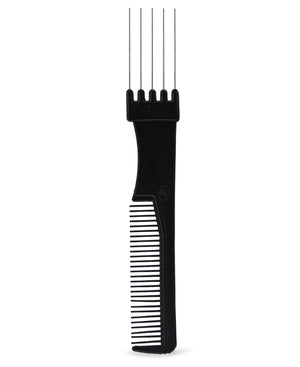 5 Prong Metal Comb - Black