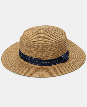 Girls Straw Hat - Taupe