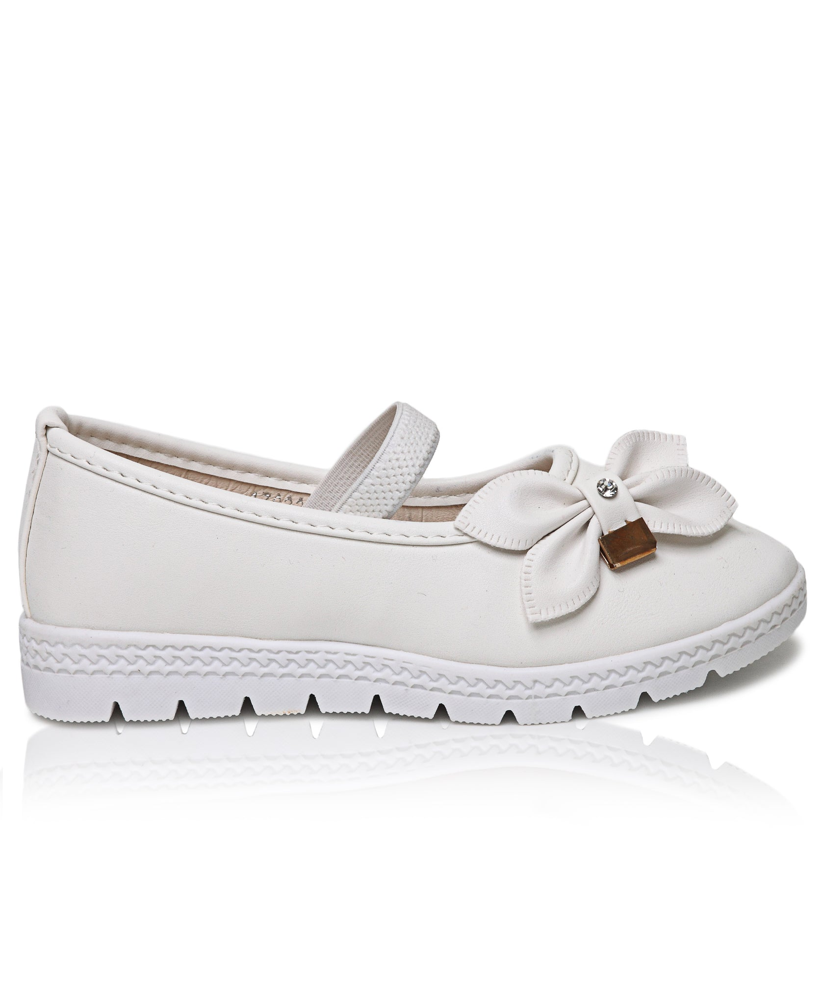 Girls Pumps - White