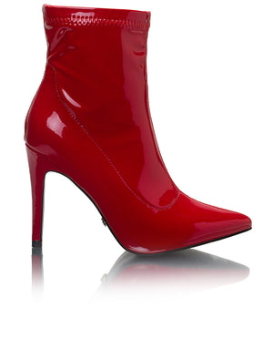 Ankle Boots - Red