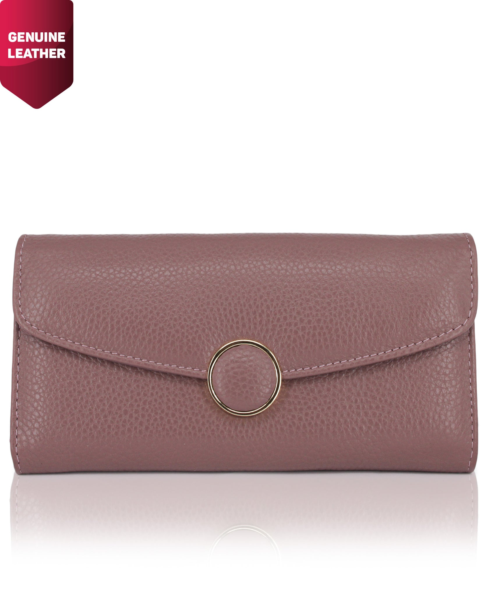 Genuine Leather Wallet - Purple