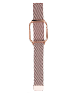 44mm Apple Watch Band With Cover - Rose Gold