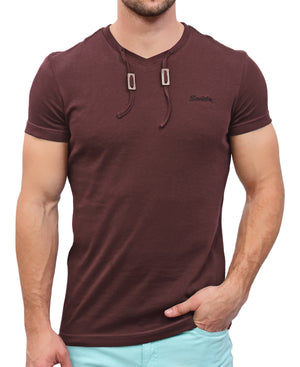 Hull Drawcord T-Shirt - Maroon