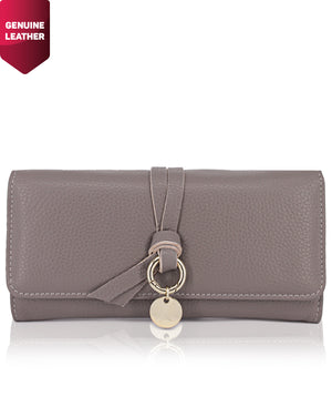 Genuine Leather Wallet - Grey