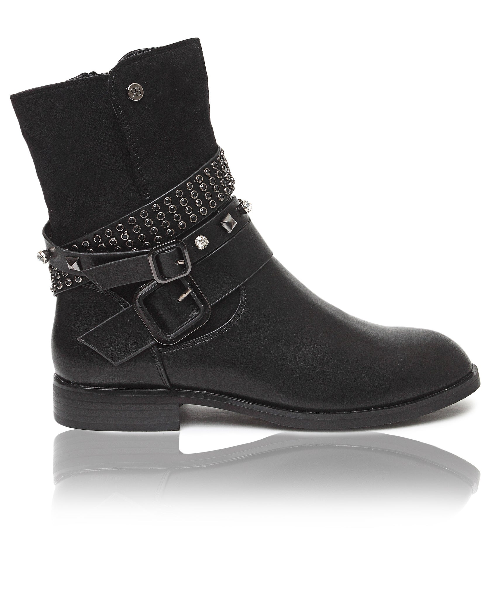 Mid Calf Boots - Black
