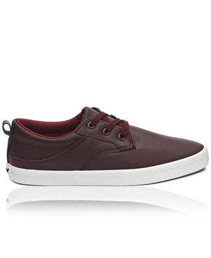 Men's Light Back Punch Sneakers - Burgundy