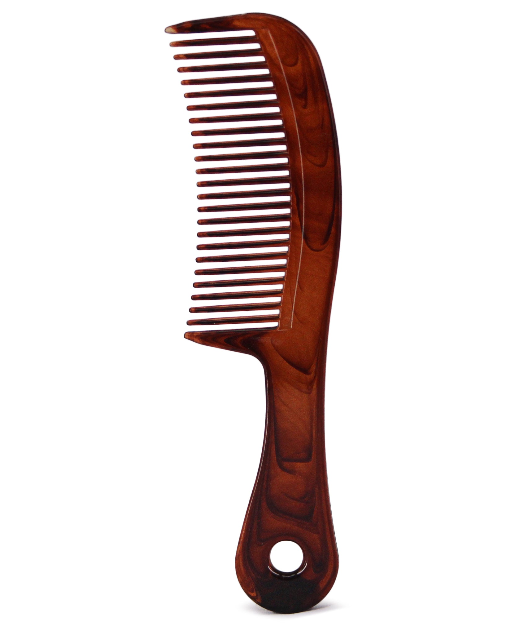 Curved Tortoise Shell Comb - Brown