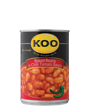 Baked Beans In Chilli Tomato Sauce 420g - Black