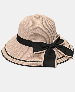 Bucket Straw Hat - Pink
