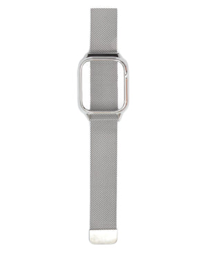 44mm Apple Watch Band With Cover - Silver