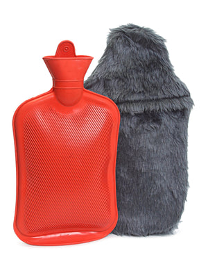 Hot Water Bottle With Cover - Navy