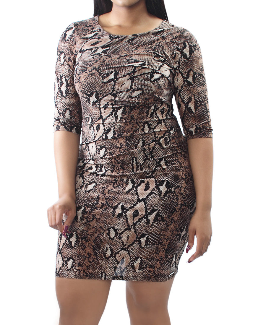 Snake Dress - Brown