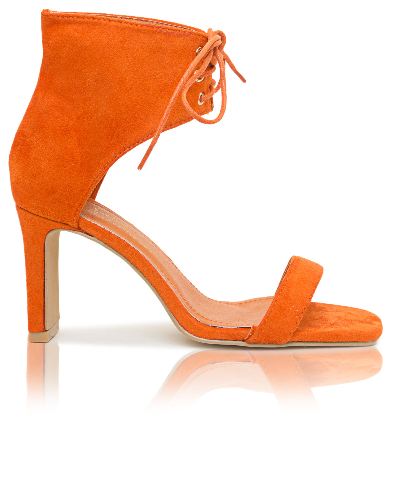 Lace Up Heels - Orange