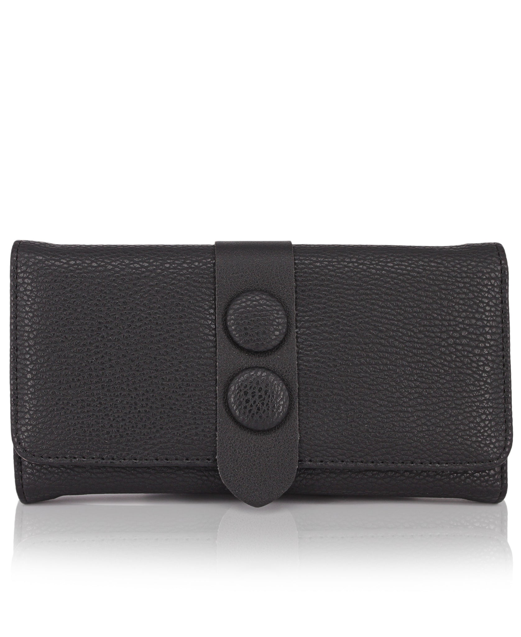 Fold Over Wallet - Black