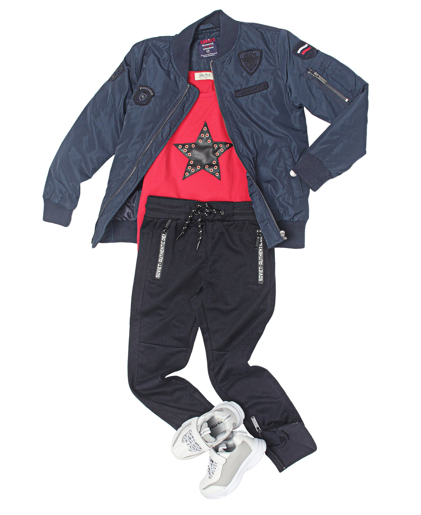Boys Compton Trackpants - Navy