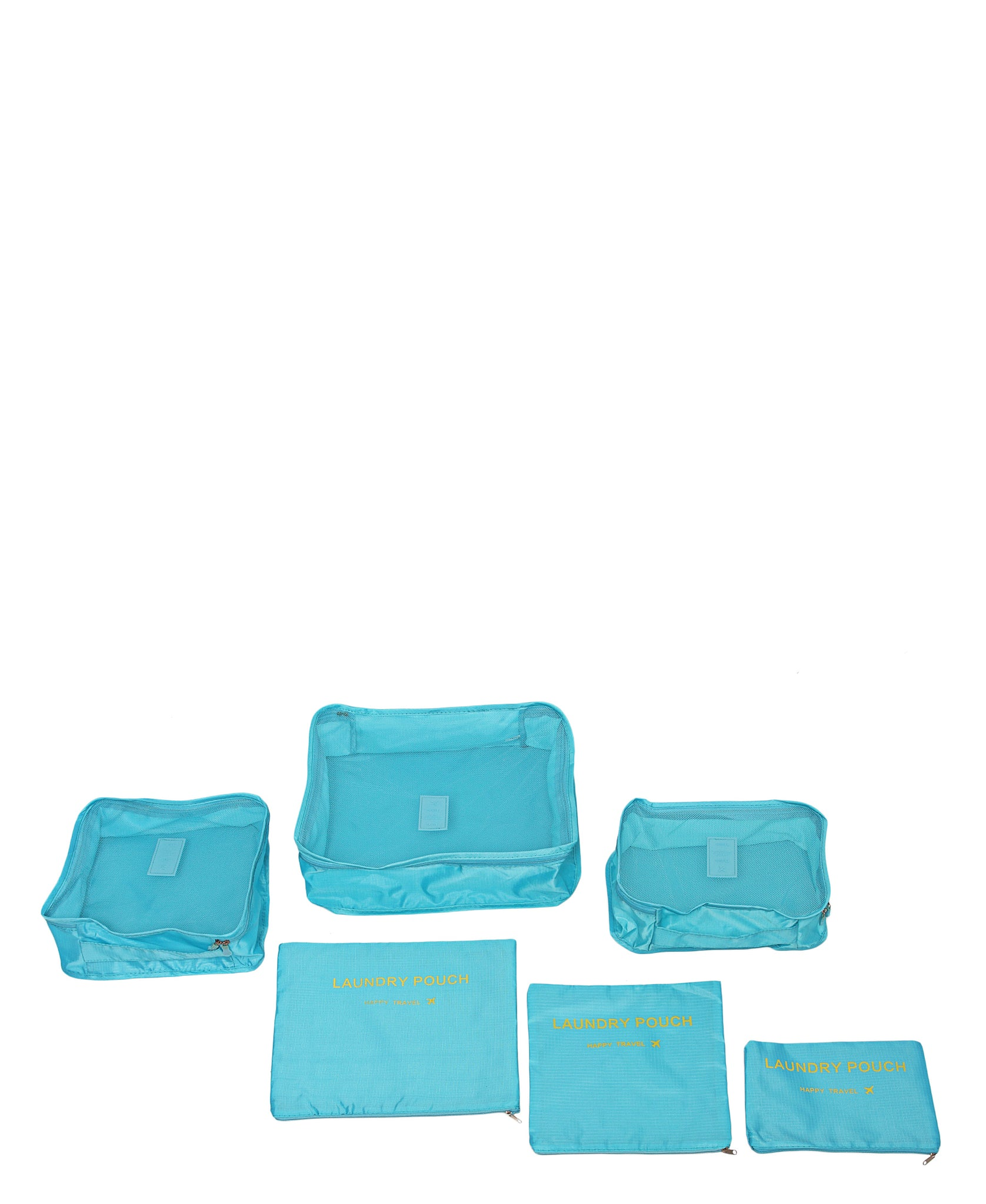 6 Piece Travel Bag Organiser - Blue