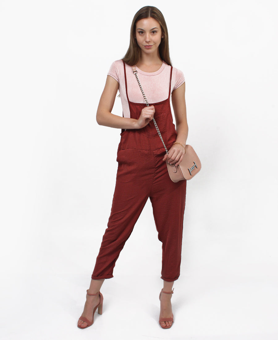 Jumpsuit - Burgundy