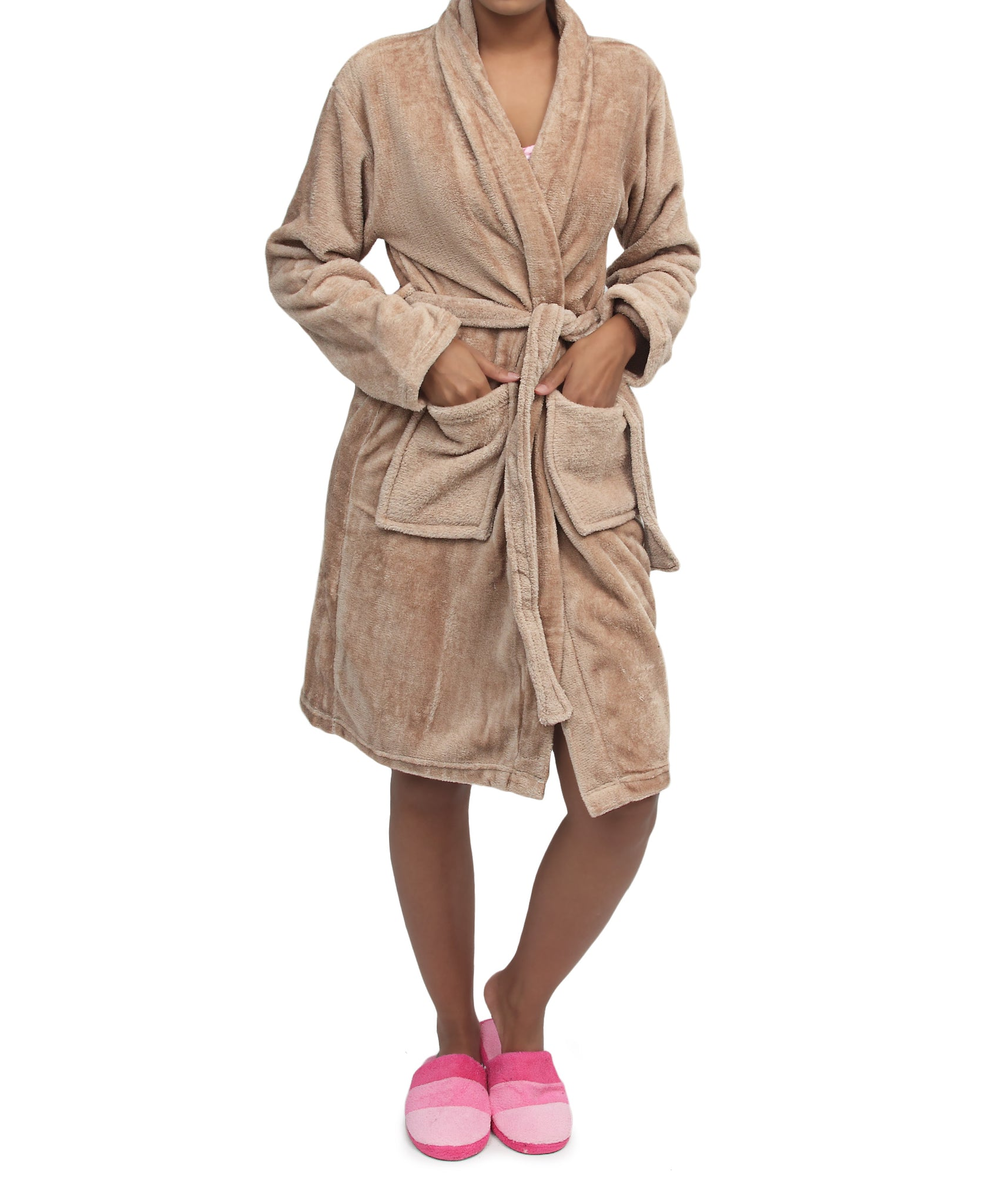 Bathrobe - Taupe