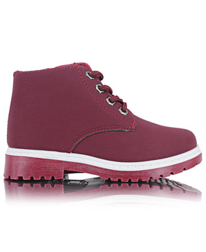Boys Ankle Boots - Burgundy