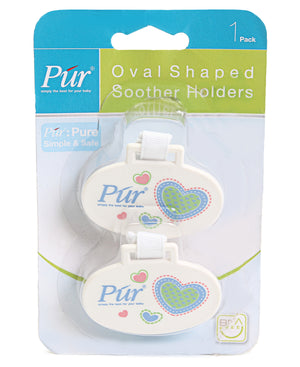 2 Pack Soother Holders - Blue
