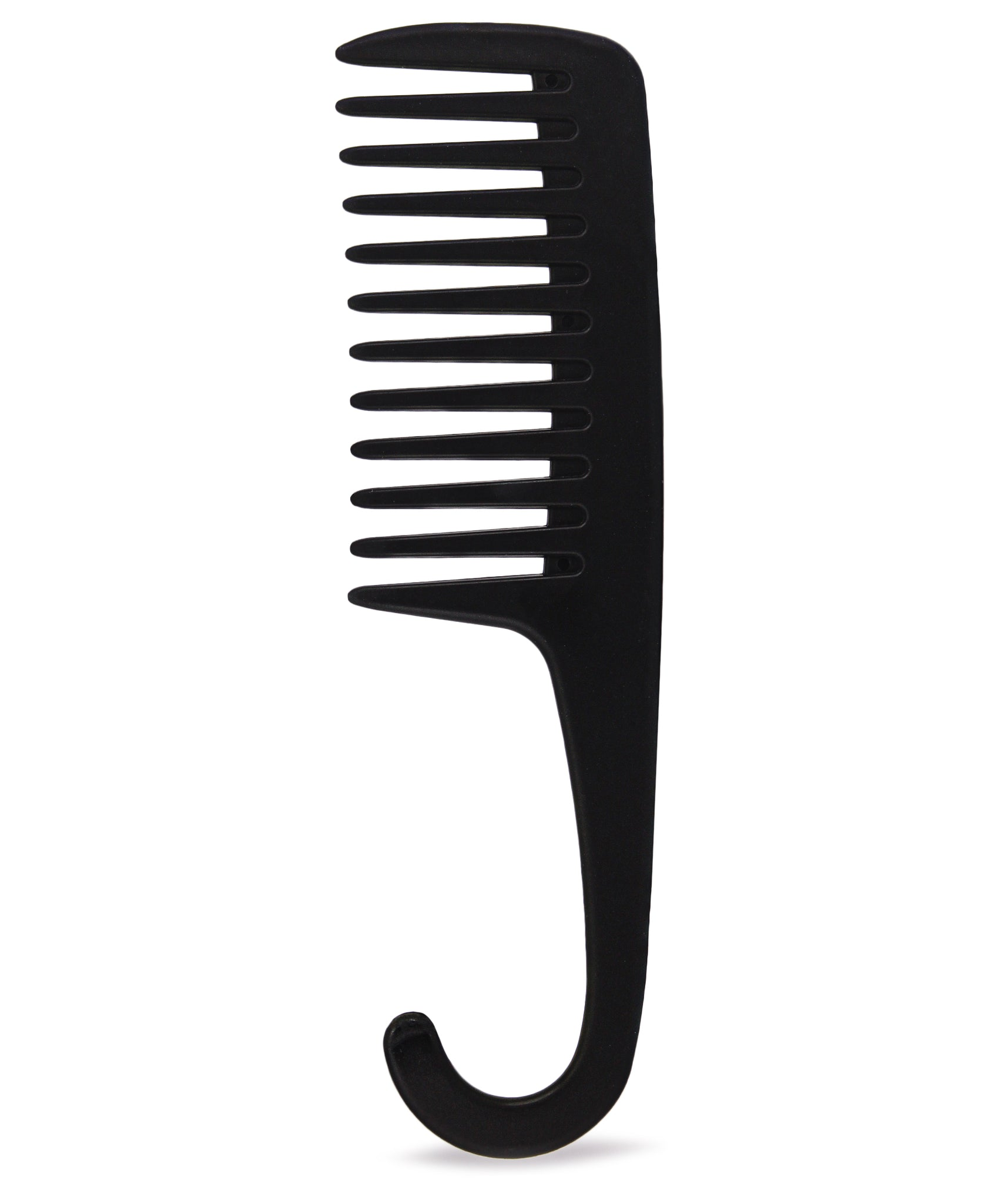 Shower Comb With Hook - Black